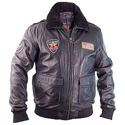 Летная куртка MYTHIC black кожаная