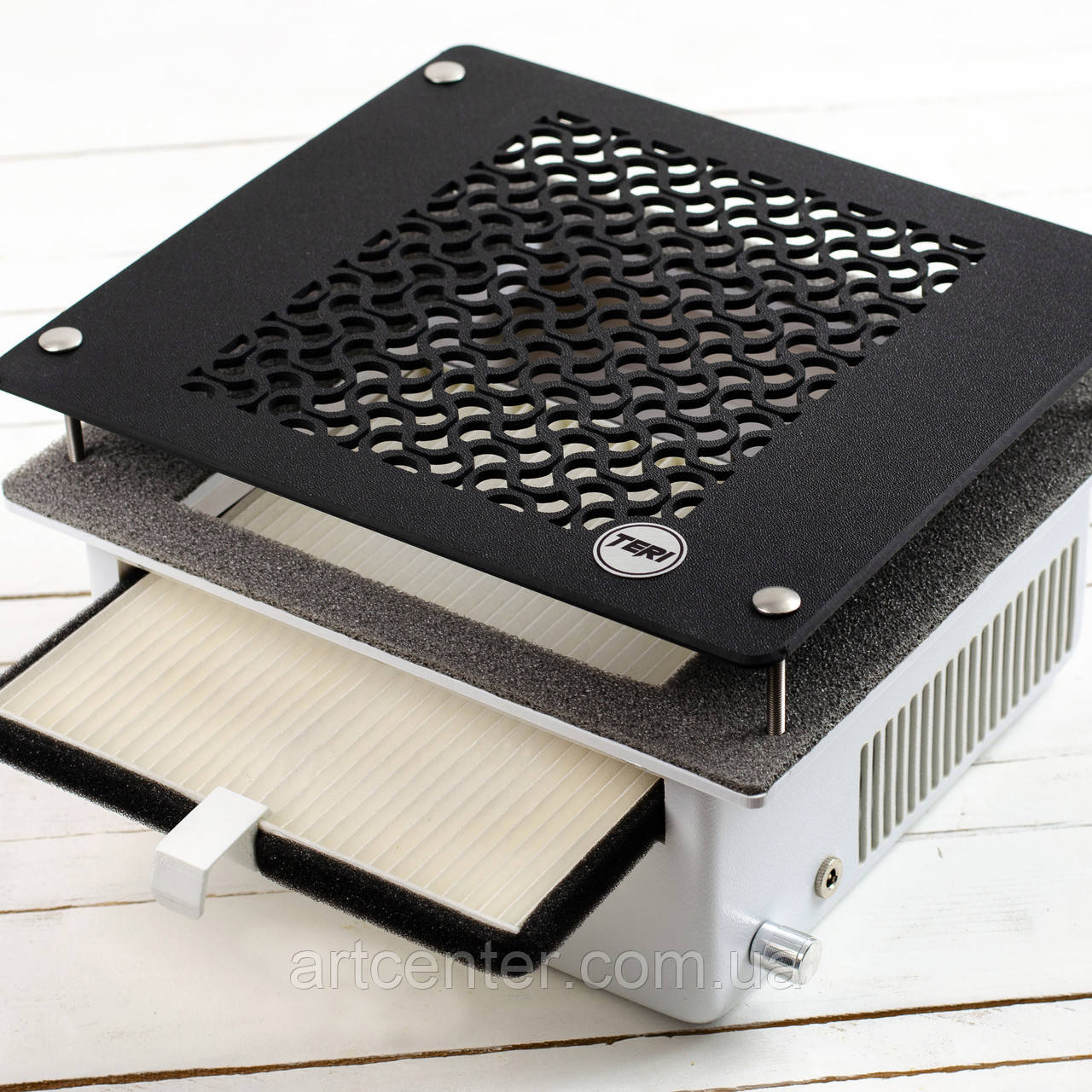 Вытяжка для маникюрного стола врезная, маникюрная вытяжка пылесос с НЕРА фильром Teri500
