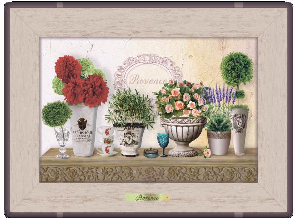 "Картина класична  ""Прованс"" ""Букети жоржин та троянд"""