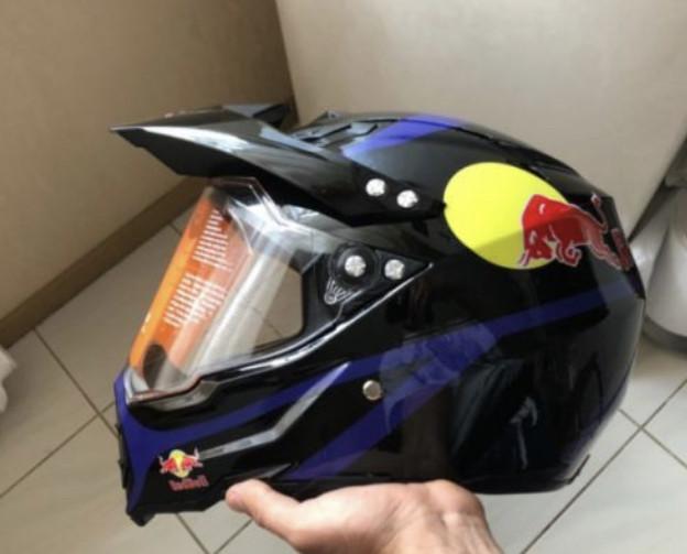 Кроссовый с визором эндуро мото шлем  Dot мотошлем Red Bull