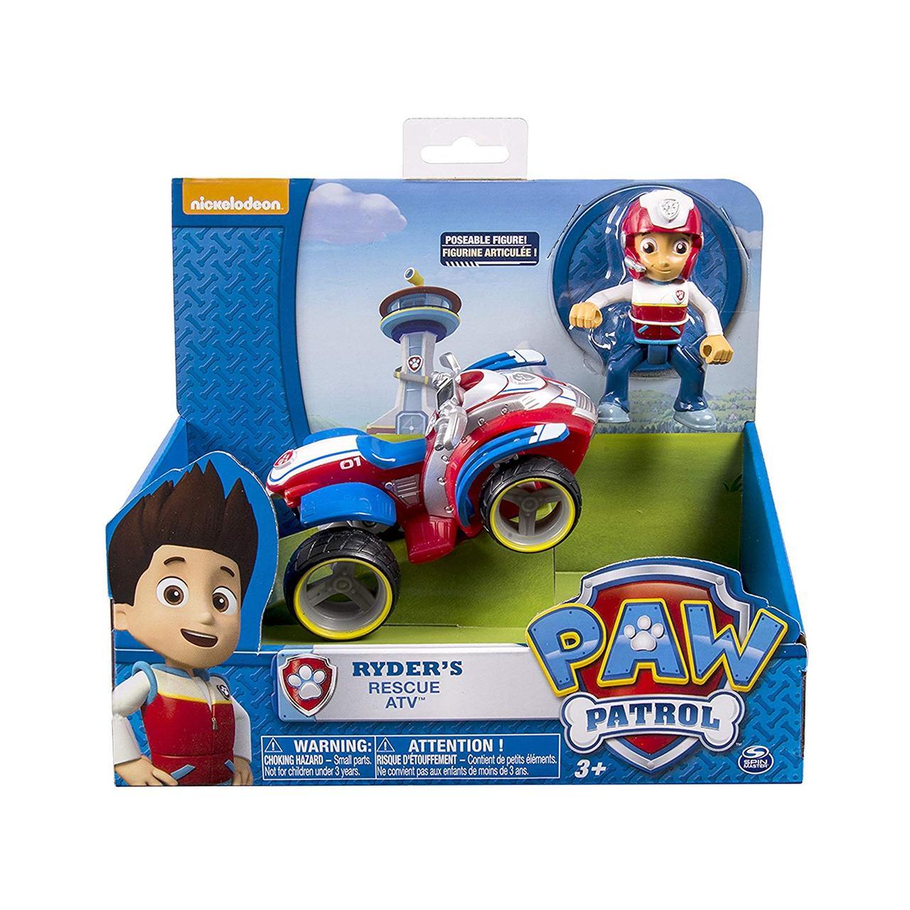 Игровой набор Щенячий патруль Paw Patrol Райдер и Спасательный квадроцикл Ryder's Rescue ATV Spin Master