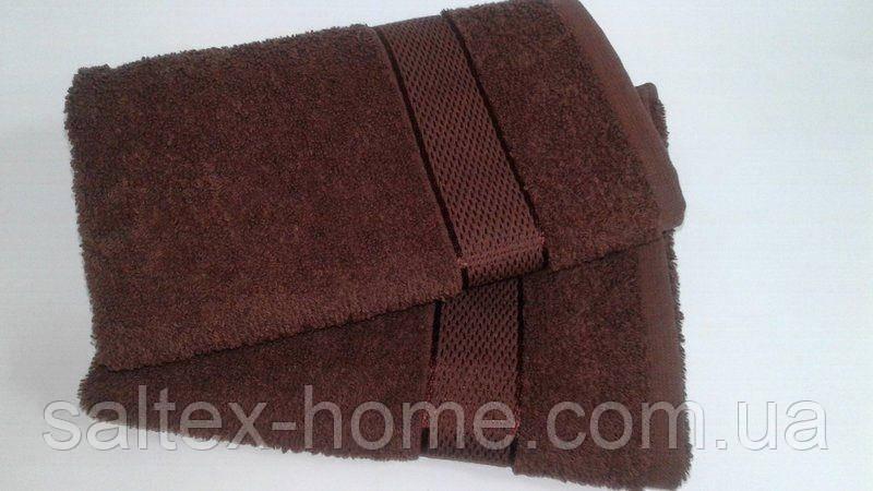 Махровое полотенце 50х90 см для лица, 400 г/м, Узбекистан, шоколадного цвета