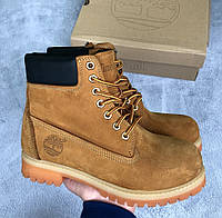 Зимние Ботинки USA Timberland 6 Inch Premium Ginger Waterproof на НАТУРАЛЬНОМ Меху 1в1 Оригинал ААА+