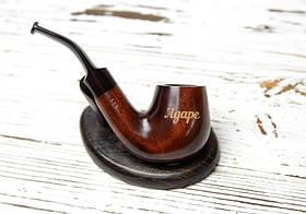 Курительная трубка ручной работы KAF226 Bent под фильтр 9 мм с нанесением лазерной гравировки