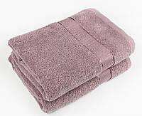 Махровое полотенце 50х90 см для лица, 400 г/м, Узбекистан, цвет фуксия
