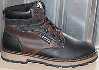 Ботинки зимние мужские кожаные от производителя И907, фото 1