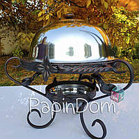 Садж 28см ковка (метал) Подставка для шашлыка Ковка с крышкой