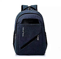 Рюкзак на два отделения синего цвета, фото 1