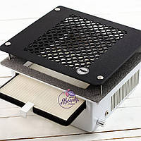 Teri 500 встраиваемая маникюрная вытяжка с HEPA фильтром (сетка черный пластик)