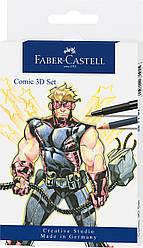 Набор для рисования комиксов Faber-Castell Comic Illustration 3D Set 11 предметов, 267191