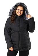 Куртка женская поздняя осень с капюшоном размеры 46-54 K1815