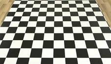 Черно белый линолеум шахматная доска, фото 3