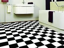 Черно белый линолеум шахматная доска, фото 2