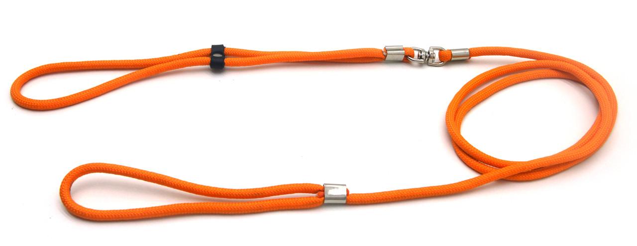 Поводок ринговка для собак из капронового фала ПРФ 0,6/150 оранжевый