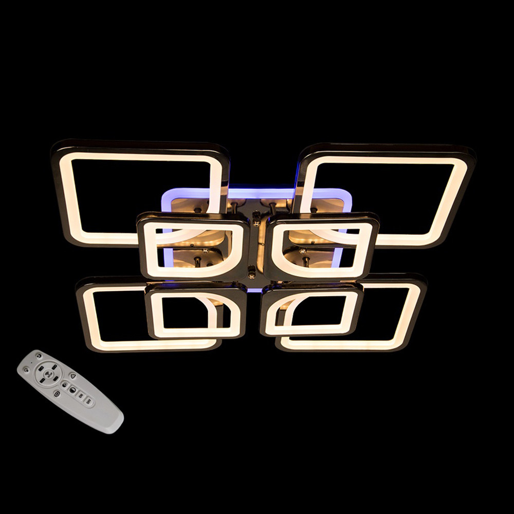 Светодиодная LED люстра СветМира 190 Вт c пультом управления и подсветкой D-9171/4+4BHR LED3C