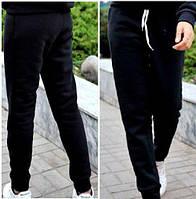 Теплые штаны на флисе черные батал р.48,50,52,54