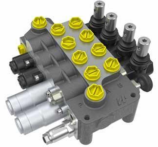 Моноблочний розподільний клапан з відкритим центром MV046 (50 л/хв) Hema Endustri A. S