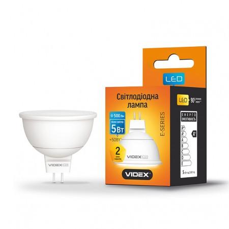 Светодиодная LED лампа VIDEX MR16e 5W GU5.3 500Lm 3000K / 4100K