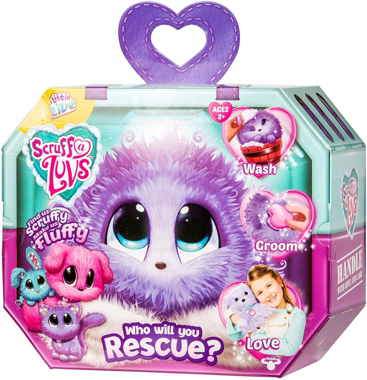 Игрушка - сюрприз Little Live Scruff A Luvs Plush Mystery Rescue Pet  Purple  Няшка - Потеряшка фиолетовая