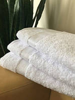 Махровое полотенце 50х90 см для лица, 400 г/м, Узбекистан, белого цвета
