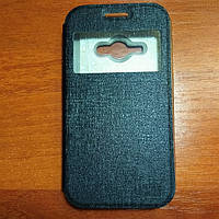 Чехол книжка на Samsung J1 Ace черный защитный чехол для мобильного телефона.