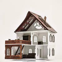 Великий дерев'яний ляльковий будиночок Веселя Оселя Caramel