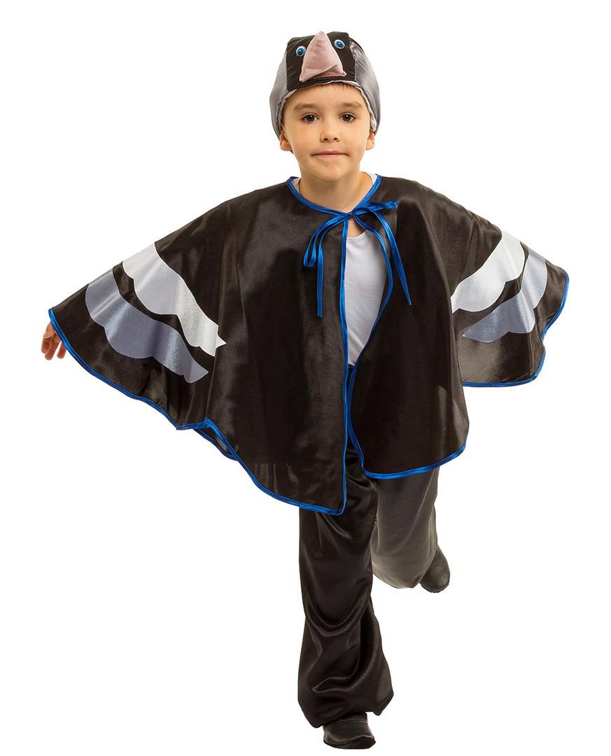 Детский карнавальный маскарадный костюм Грач рост: от 110 до 134 см
