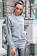 Модная молодежная толстовка 1228.3756 серый меланж, фото 2