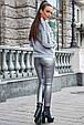 Модная молодежная толстовка 1228.3756 серый меланж, фото 3