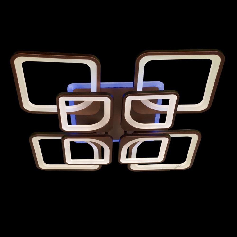 Светодиодная LED люстра СветМира 170 Вт c пультом управления и подсветкой D-9171/4+4CF LED3C