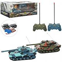 НАБОР ИГРОВОЙ 333-TK11 р/у, аккумулятор, танки 2 штуки, пульт 2 штуки, звуковые, светящие, в коробке