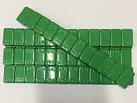 Вантаж самоклеючий зелений 60г., (низькопрофільний) блакитна стрічка(колір)60-6