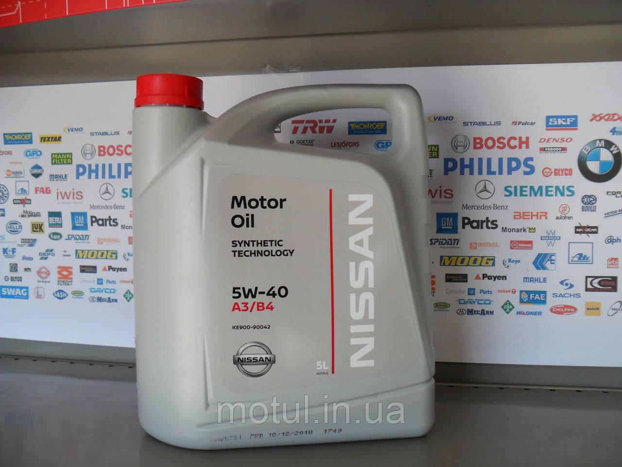 Моторне масло Nissan 5w40 5L
