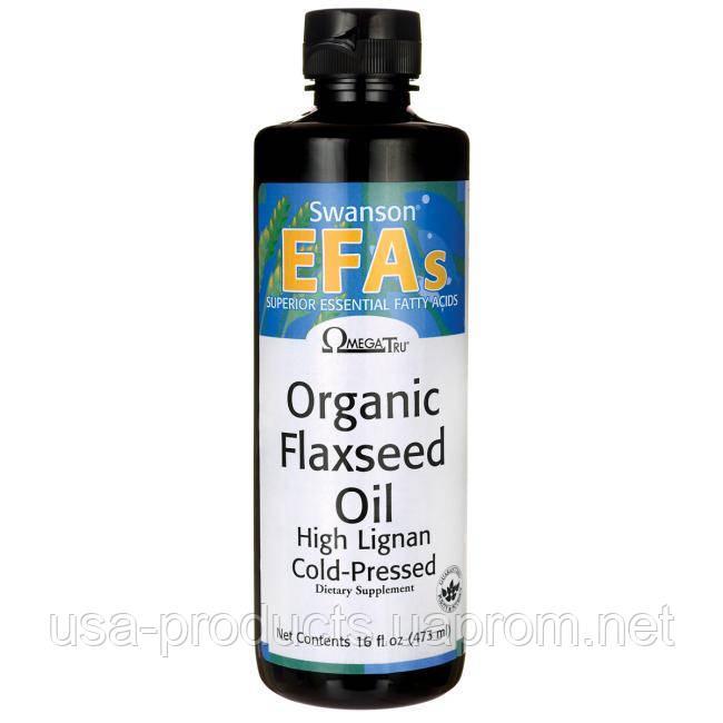 Органическое льняное масло холодного отжима США 473 мл