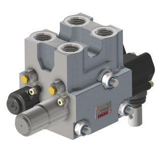 Моноблочный распределительный клапан с открытым центром MV061 (60л/мин) Hema Endustri A.S