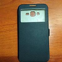 Чехол книжка на Samsung J7 2016 черный защитный чехол для мобильного телефона.