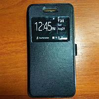 Чехол книжка на Samsung J5 2016 черный защитный чехол для мобильного телефона.