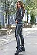 Модная молодежная толстовка 1228.3757 черный меланж, фото 3