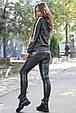 Модная молодежная толстовка 1228.3757 черный меланж, фото 4