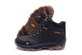 Мужские зимние кожаные ботинки в стиле Merrell Chocolate, фото 3