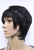 Искусственный парик короткая стрижка натуральный черный цвет