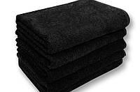 Махровое полотенце 70х140 см для лица, 400 г/м, Узбекистан, черного цвета