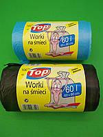 Пакеты для мусора с ручками ТОР - 60л, LD, 100шт/рул