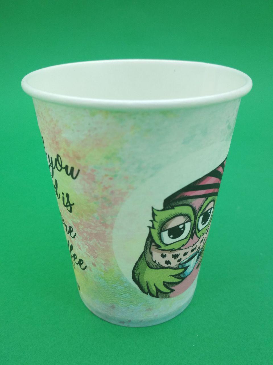 """Одноразовые бумажные стаканы с рисунком 250 мл """"Детские"""" , 50 шт/пач"""