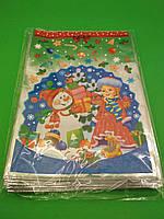Новогодние пакеты для конфет и подарков (20*30) №04 Снегурочка и снеговик (100 шт)