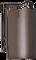 Черепица керамическая  Braas Рубин 11V Ангоб, Коричневый