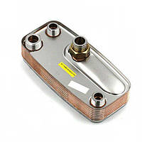Вторинний пластинчастий теплообмінник ГВП 15 пл. Immergas Nike/Eolo Mini (з ручками). Art. 1.013430