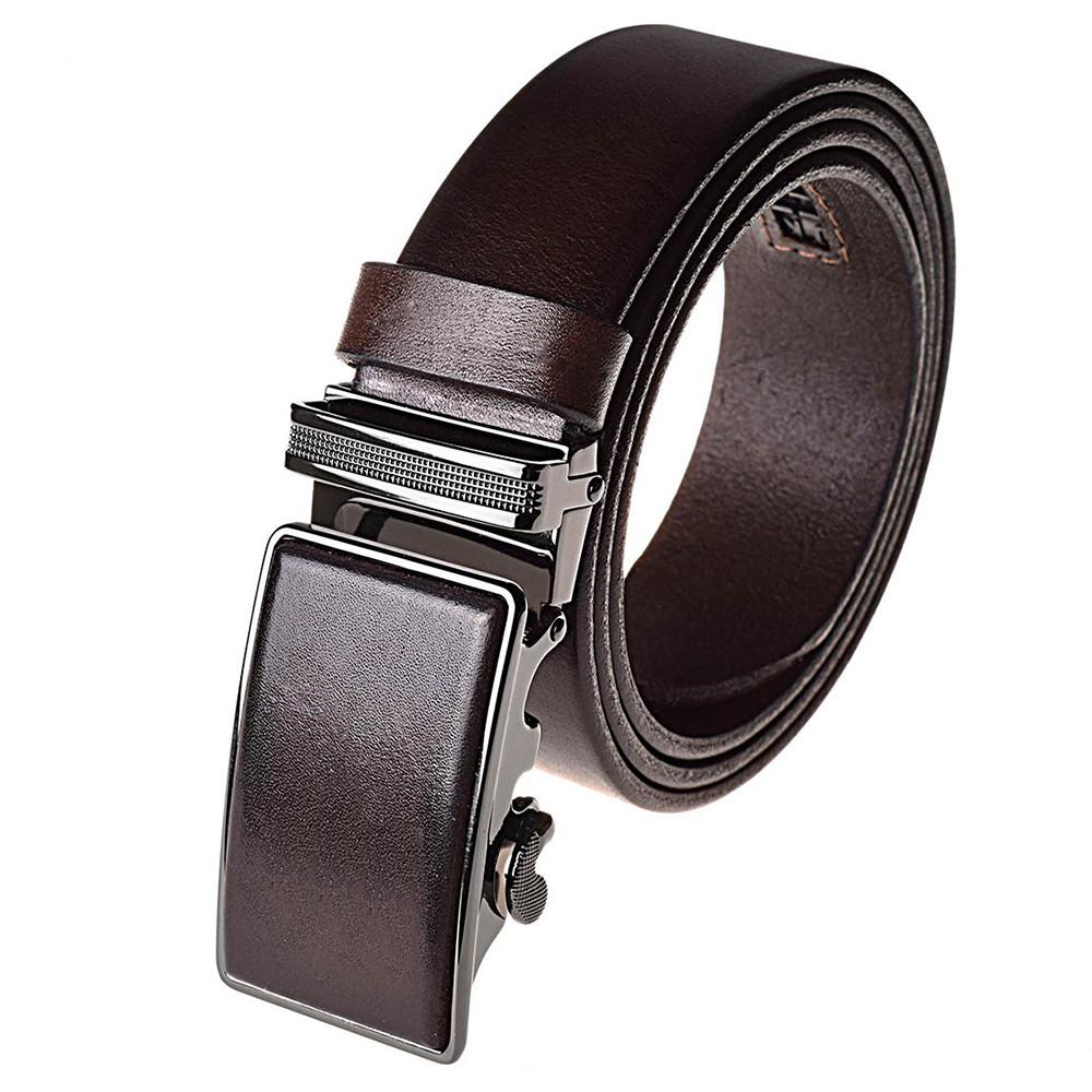 Ремень мужской кожаный JK-3545 brown (115 см)
