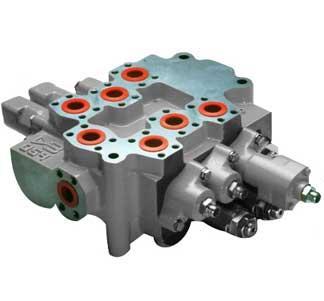 Моноблочний розподільний клапан з відкритим центром 059 (375л/хв) Hema Endustri A. S