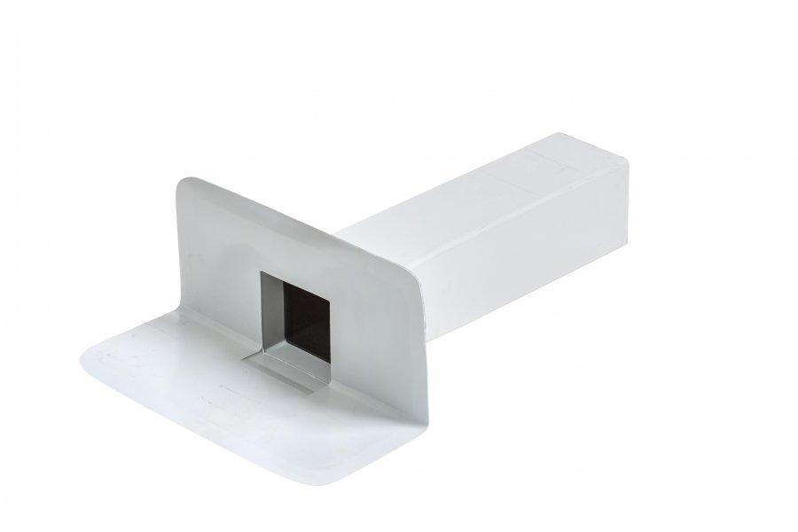 Воронка переливная квадратная ПВХ Flagon 100х100 мм  - ПВХ кровельная мембрана рулонная